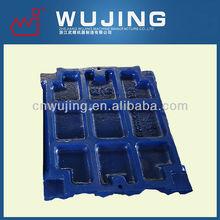 alloy high manganese steel crusher perts jaw plate for mesto sandvik crusher
