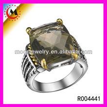top end gioielli imitazione smeraldo prezzo per carato cz anello magico