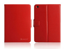 Brand new pu leather flip cover smart leather tablet case for ipad mini