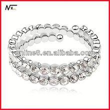 cheap Crystal Beaded Bangle alloy bracelet,custom bangle african handmade bracelet