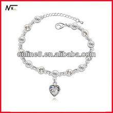 hot selling Crystal Beaded bracelet,alloy bangle,custom bangle alice in wonderland charm bracelet