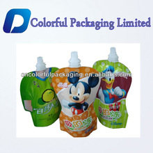 Customized Baby food stand up pouch with spout/Flexible liquid water stand up packaging bag spout/doypack plastic bag packaging