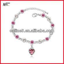 ODM factory Crystal Beaded Bangle alloy bracelet,custom bracelet artificial pearl bangles and bracelets
