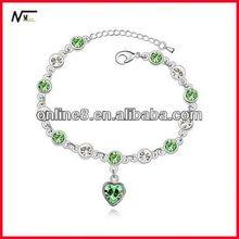 google quality shining Crystal Beaded bracelet alloy bangle,custom bangle bracelet ball pen