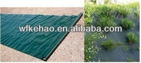 Black PP weed mat for inhibite weed growth