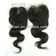 5A top quality cheap lace closure, 3.5*4 Brazilian hair closure, top closure for women