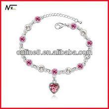 Produttore di porcellana di cristallo perline braccialetto braccialetto della lega, custom braccialetto braccialetto baffi