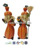 Scarecrow resin figurines thanksgiving