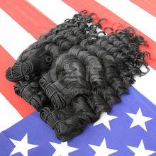 Cabelo Humano Barato Cabelo Organico 100% Mongolian Deep Wave Hair