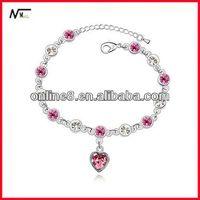 nice price Crystal Beaded Bangle alloy bracelet,custom bracelet bracelet+cordon+tirette
