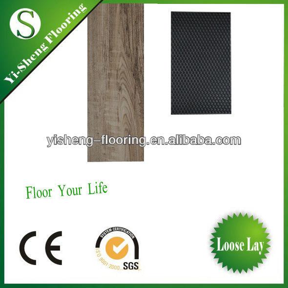 Nice look pvc click vinyl flooring for field