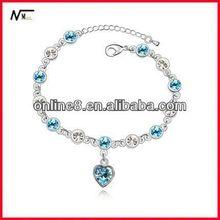 design NO.1 price Crystal Beaded Bangle alloy bracelet,custom bangle handmade leather bracelet ideas