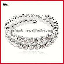 best service Crystal Beaded Bangle alloy bracelet,custom bangle magic power bracelet with ions
