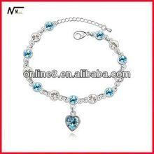 new design price Crystal Beaded Bangle alloy bracelet,custom bangle silicon bracelet usb flash memory