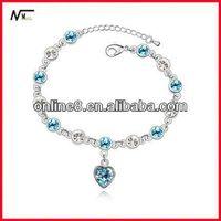 cheap price Crystal Beaded Bangle alloy bracelet,custom bangle wet and wear bracelets