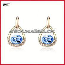 Free Shipping best service Earrings,new model earrings,Fashion Earrings heart earring_earring_aquamarine jewelry earring