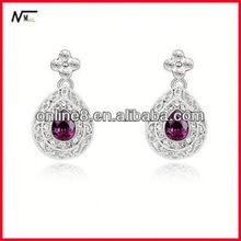 Free Shipping new Earrings,Wholesale Crystal High Quality Fashion Earrings traditional wedding gift