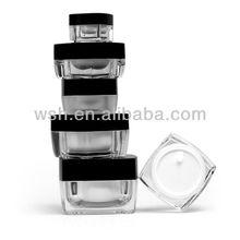 Square Acrylic Small Plastic 5ml Jar