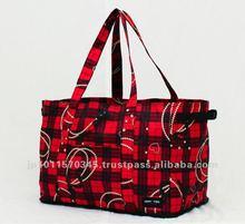 Original print design foldable poiyester shopping basket bring your own bag