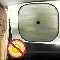 Set of 2 Car Suction Window Sun Glare Shade