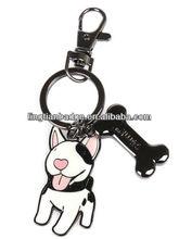 Cute dog metal key chain