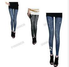 Autumn/Winter printing denim jeans women's skinny leggings pencil pants slim elastic stretchy 7931