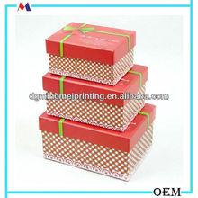red dot make up tools storage box/muti-size pretty box packed print