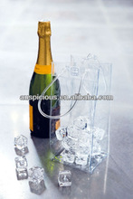Super clear ice chiller carrier for wine