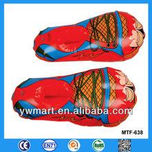 Publicidad inflable zapatos, De plástico de PVC partido zapatos para promocional