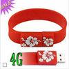 Silicone USB bracelet , USB flash drives bulk cheap , bracelet USB pendrive
