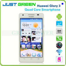 Hot Sales!3G/2G WCDMA/GSM Quad Core Cell Phone 4.7 Inch IPS Capacitive Screen Support GPS WIFI Bluetooth Huawei Honor 3 Glory 3
