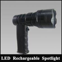 Waterproof Boat searchlight 10w led Aluminum Rechargebale Hunting Flashlight lithium
