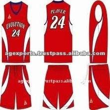 Red Custom Basketball Uniforms
