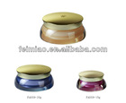 Elegant cosmetic jar and container with special finishing
