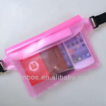 Swimming and diving drifting waterproof waist bag / mobile phone/ camera waterproof bag