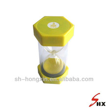 attractive plastic and glass sand timer/hourglass 3 minutes
