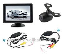 wireless car reversing camera 2.4g wireless between monitor and camera good quality