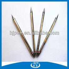 Silver Engraved Body Metal Ballpoint Pen Double Ended Pen