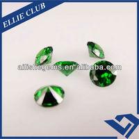 wax setting green nano spinel loose stones