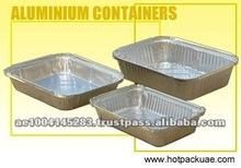 Rectangular Food Aluminium Foil Platters and Containers
