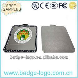 zinc alloy custom metal luggage tag