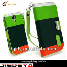 Leather for samsung s4 handmade cell phone cases