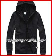 mens blank pullover hoody/black cotton hoody hoodies/hooded sweatshirt men