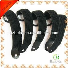 Black Strong Elastic Fastening Tape/Velcro Strap