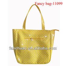 fashion yellow vinyl teen tote bags