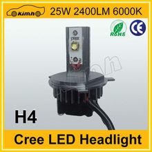 Super bright H4 H7 H8 H9 H11 9005 9006 car led headlight 24w 2400lm
