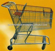 75L Folding Zinc Painting Supermarket Shopping Trolley
