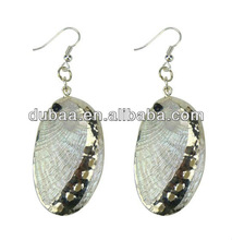 Wholesale Alibaba Costume Jewelry Earring,Vintage Paua Seashell Earring,Natural Shining Shell Drop Earring Designs for Gilrs