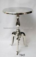 Aluminum chrome table, metal table, home decoration