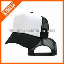 blank polyester sponge mesh cap